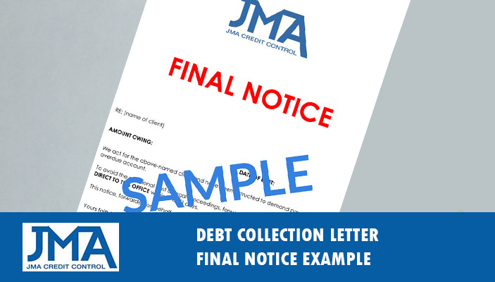 debt collection letter letter of demand example template