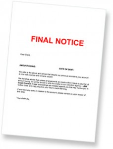 Debt Collection Sample Letter