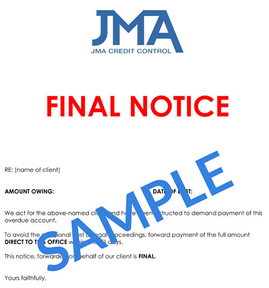 how to write an overdue account letterjma credit control jma